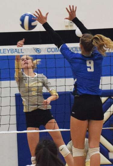 Mid-Prairie volleyball swept by No. 3 Wilton