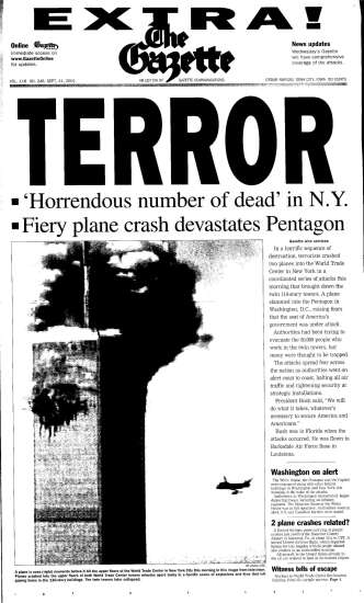 On Sept. 11, 2001, The Gazette published an 'extra' edition