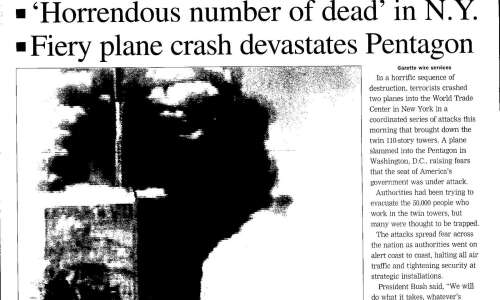 See The Gazette 'extra' edition, published on Sept. 11, 2001