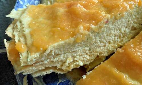 Creamy Peach Crepe Cake takes full advantage of peach season