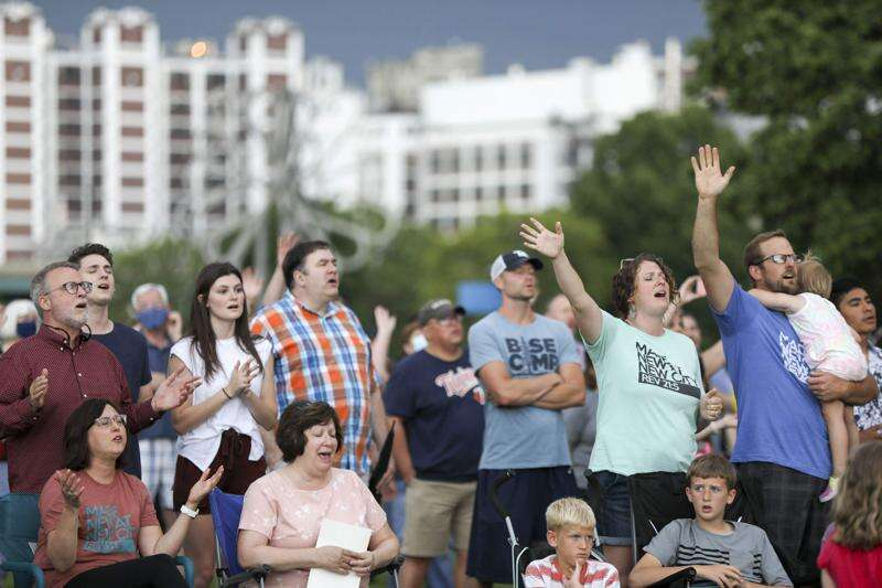 Hundreds gather on May's Island in Cedar Rapids, praying to heal nation's racial divide