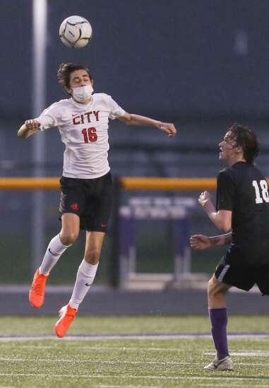 Photos: Iowa City High vs. Iowa City Liberty, Iowa high school boys' soccer