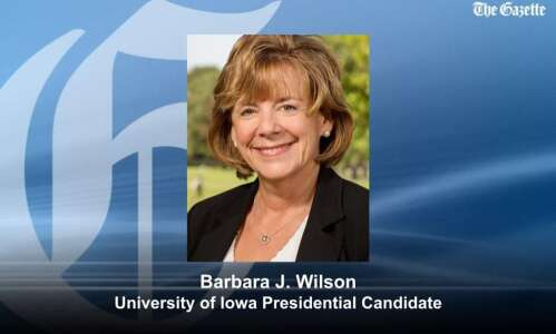 UI names U. Illinois VP Barbara Wilson second presidential finalist