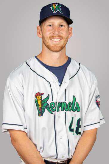 Jon Olsen finally pitching again, and on a professional mound for Cedar Rapids Kernels