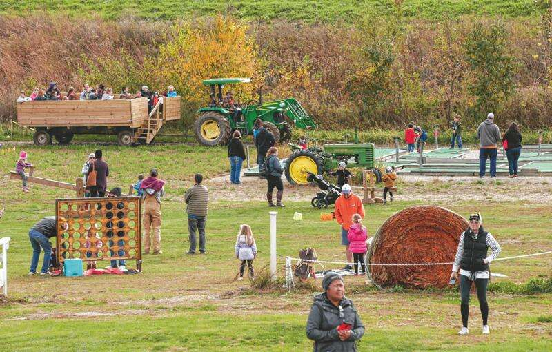 Pumpkin patches, petting zoos, like Bass Family Farms near Mount Vernon, introduce city kids to rural life