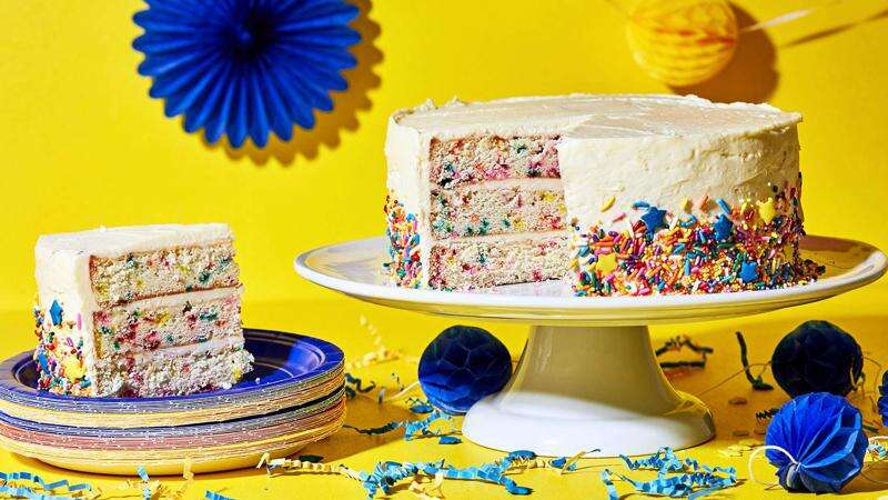 Say 'happy birthday!' with this upgraded Funfetti cake recipe
