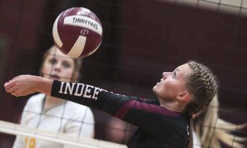 Photos: Center Point-Urbana vs. Independence regional volleyball