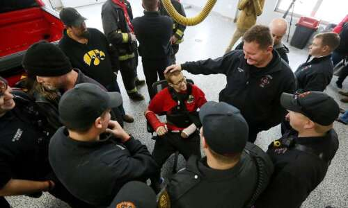 Clinton firefighter returns after serious injuries