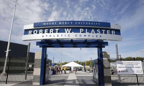 Mount Mercy christens Robert W. Plaster Athletic Complex