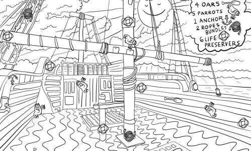 Set sail: Find the hidden pictures on this boat