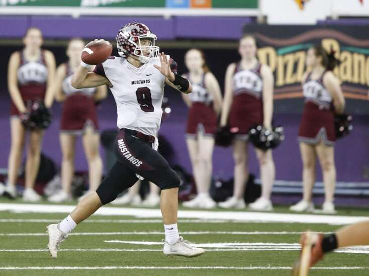 Mount Vernon's Drew Adams has become one of the state's best passers