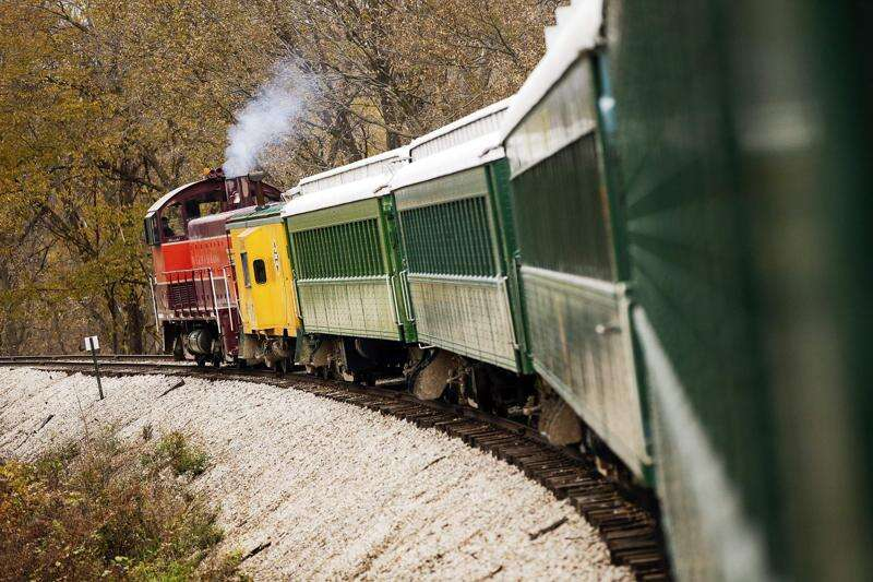 Take a ride on the Boone & Scenic Valley Railroad for sweeping views of fall colors