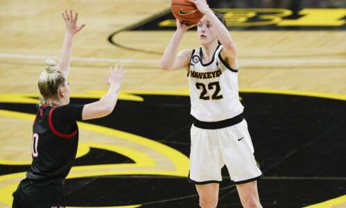 Iowa freshman Caitlin Clark is a second-team AP women's basketball…