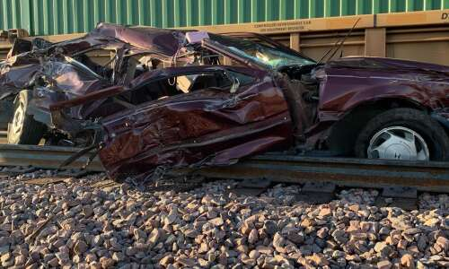 Crash with train near Fairfax kills two in vehicle