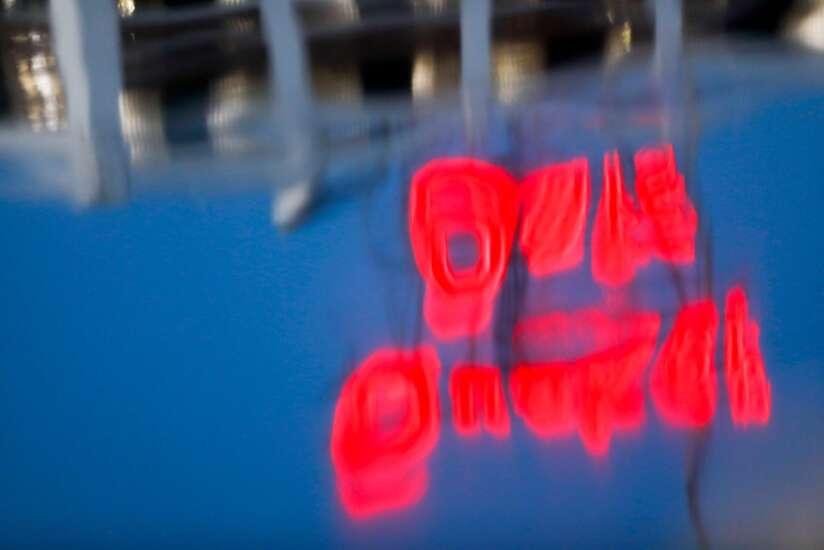 Cedar Rapids' iconic Quaker Oats sign returns to skyline after derecho damage