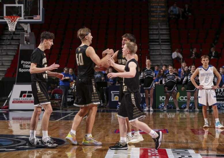 Photos: Wapsie Valley vs. Montezuma, Iowa Class 1A boys state basketball semifinals