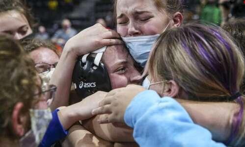 Photos: Iowa high school girls' state wrestling tournament