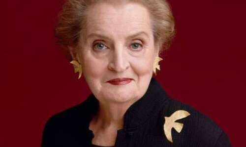 Madeleine Albright's famous serpent pin, others in Cedar Rapids