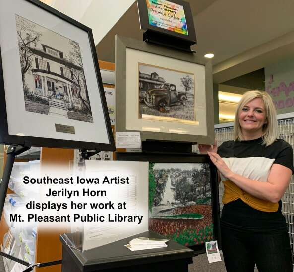 Jerilyn Horn's art featured in Mt. Pleasant Public Library