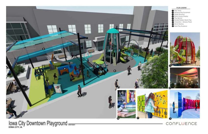 Iowa City revises Ped Mall playground after public comment