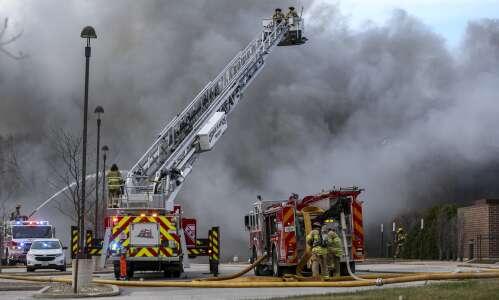 Fire destroys UnityPoint office building in Cedar Rapids
