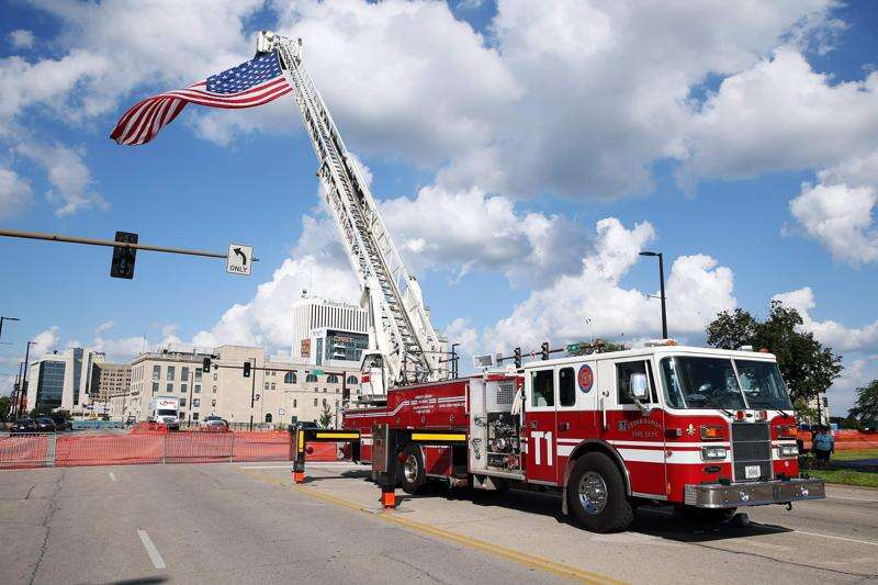 'Memorial Salute of Flags' will be back in downtown Cedar Rapids ... sometime in the future