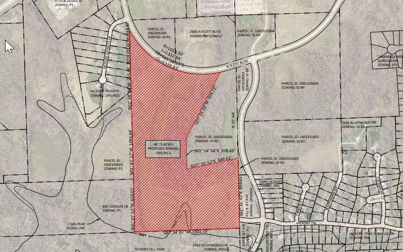Housing development proposed near Iowa City's Hickory Hill Park