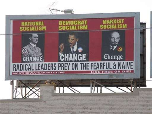 Iowa billboard compares Obama to Hitler; draws criticism