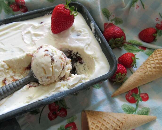 Don't let summer pass without these strawberry sherbet and strawberry-fig ice cream recipes