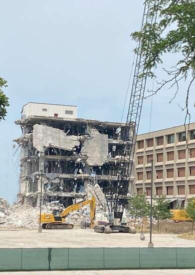 Demolition begins on Cedar Rapids Transamerica buildings