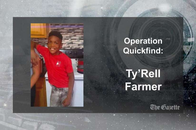 (CANCELED) Operation Quickfind issued for Ty'Rell Farmer, 10, of Cedar Rapids