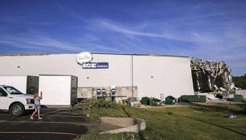 Derecho damage to Cedar Rapids ice arena and ballpark is around $7 million
