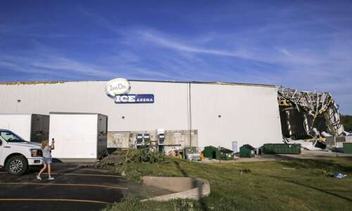 Derecho damage to Cedar Rapids ice arena and ballpark is…