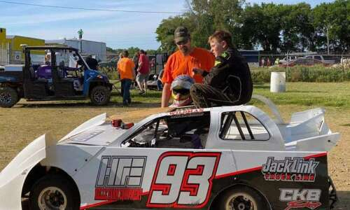 11-year-old Chase Brunscheen gets a head start in racing