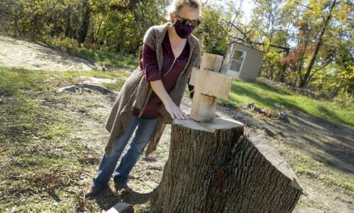 To honor the trees lost in the derecho, Prairiewoods is…