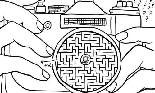 Solve this maze: Frame, focus and click