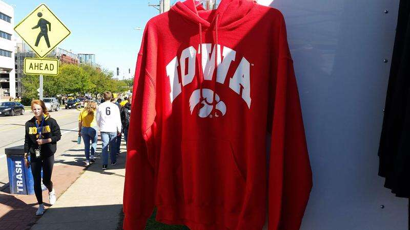 Iowa fans see red before Wisconsin game, and don't mind