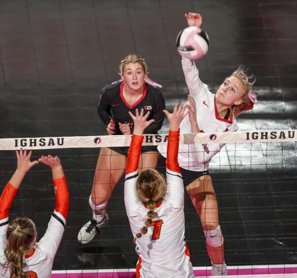Photos: Clarion-Goldfield-Dows vs. Red Oak, Iowa Class 3A state volleyball quarterfinals