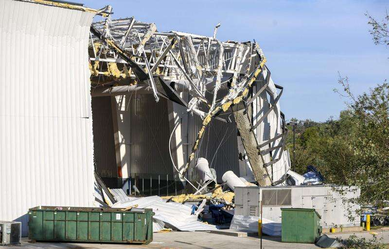 Veterans Memorial Stadium, ImOn Ice Arena sustain severe damage in Monday's derecho