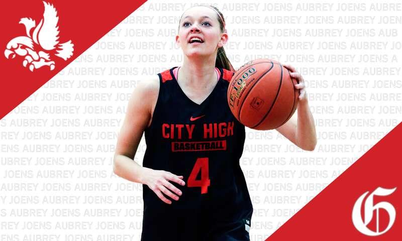 Aubrey Joens of Iowa City High is the Gazette girls' basketball player of the year