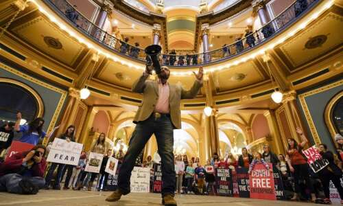 Capitol Ideas: Unmasked rally sets uneasy tone for Iowa Legislature