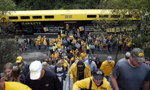 Hawkeye Express train ends Iowa football game day service