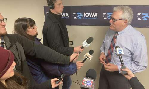 Iowa Democratic leader on the road to attack Joni Ernst's…