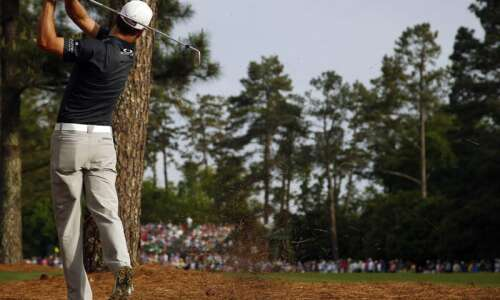 Zach Johnson goes from back against wall to foot on…