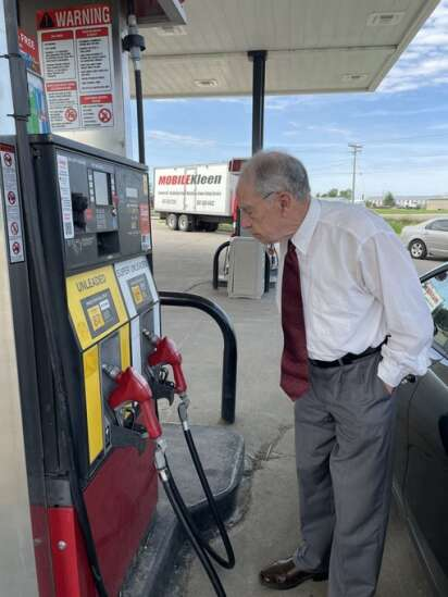 Fact Checker: Gas prices are high. But is Biden to blame like Grassley claims?