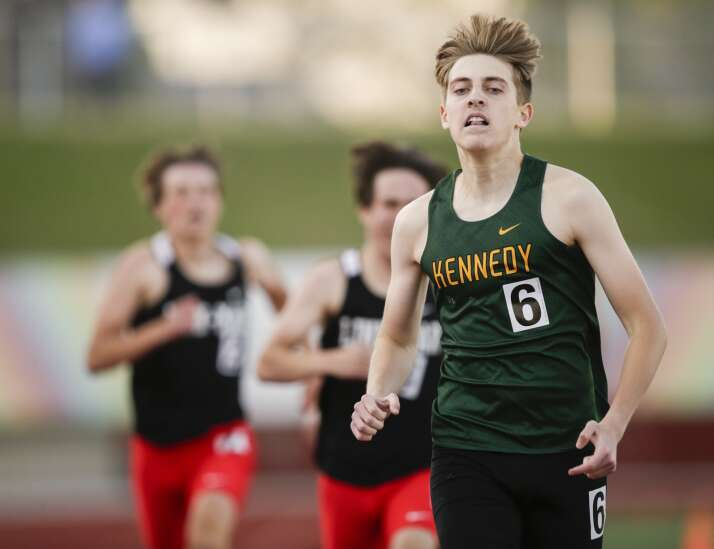 Photos: Iowa high school state-qualifying track and field meet at Kingston Stadium