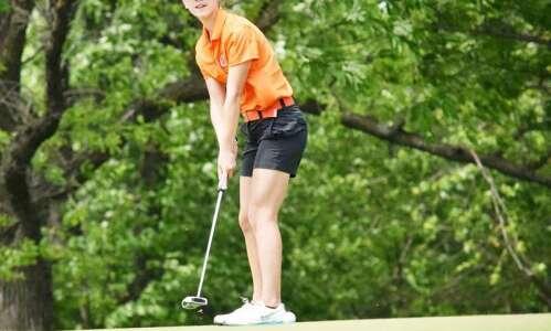 Washington, Iowa's Sarah Nacos claims third state golf title