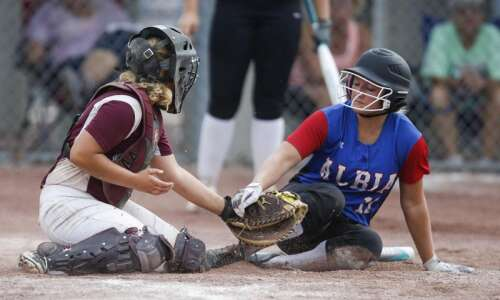 Albia's power surge topples Mount Vernon in state softball semifinals