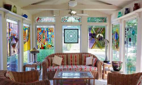 Stained glass creations became Iowa City retiree's second career