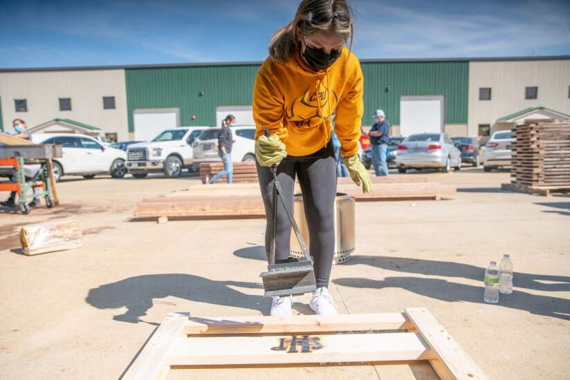 100 beds built by Cedar Rapids students with Sleep in Heavenly Peace to go to local kids
